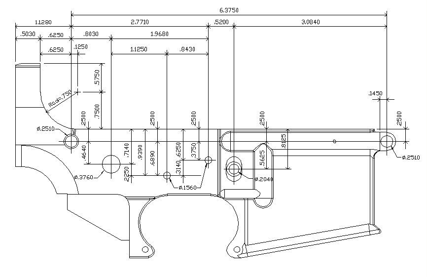 m 16 lower receiver blueprint