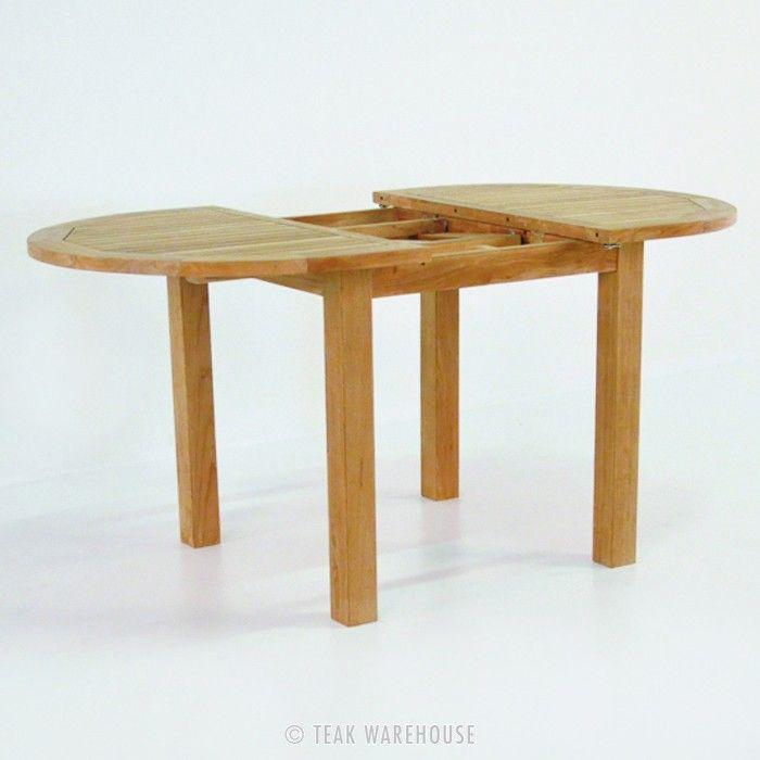 Capri Oval Teak Extension Outdoor Dining Table