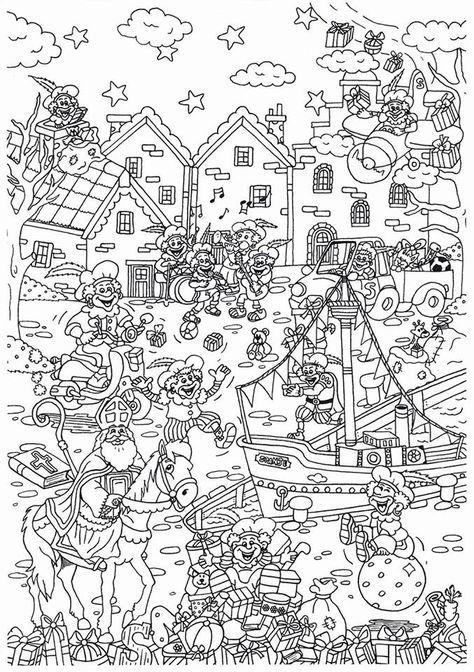 Vorig Jaar Maakte Suzanne Deze Leuke Kleurplaat Al Van Sinterklaas