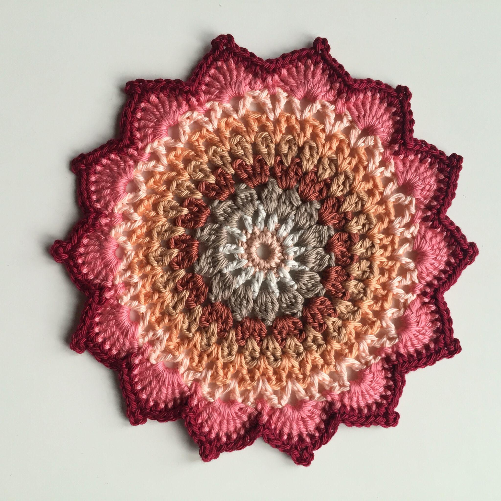 Mandala Haken Crochet Little Cherry Blossom Mandala Crochetmilan