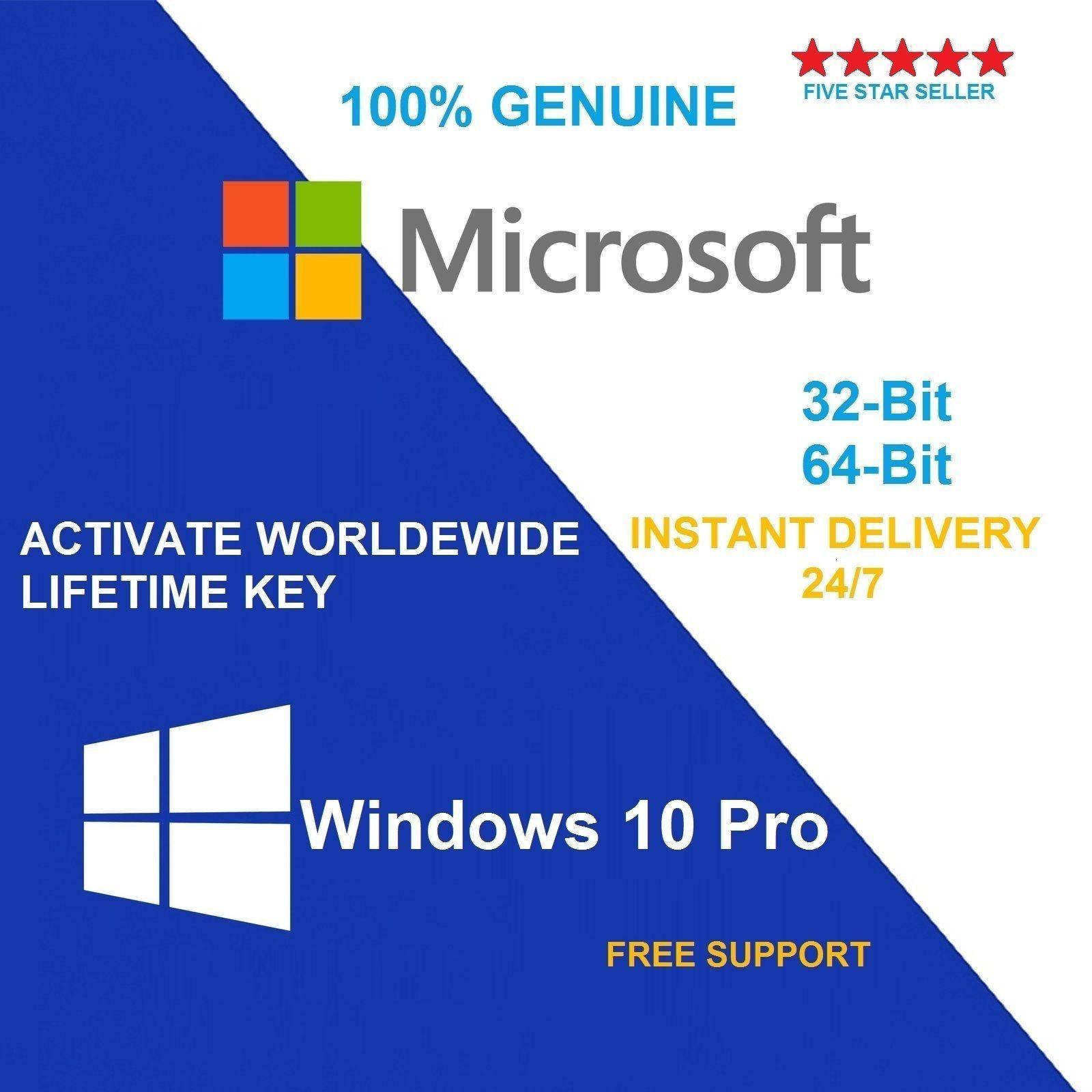 Genuine Windows 10 Pro32 64 Bit Oem Original License Key Scrap Pc Profesional Office 2016 Pro Plus Lisensi