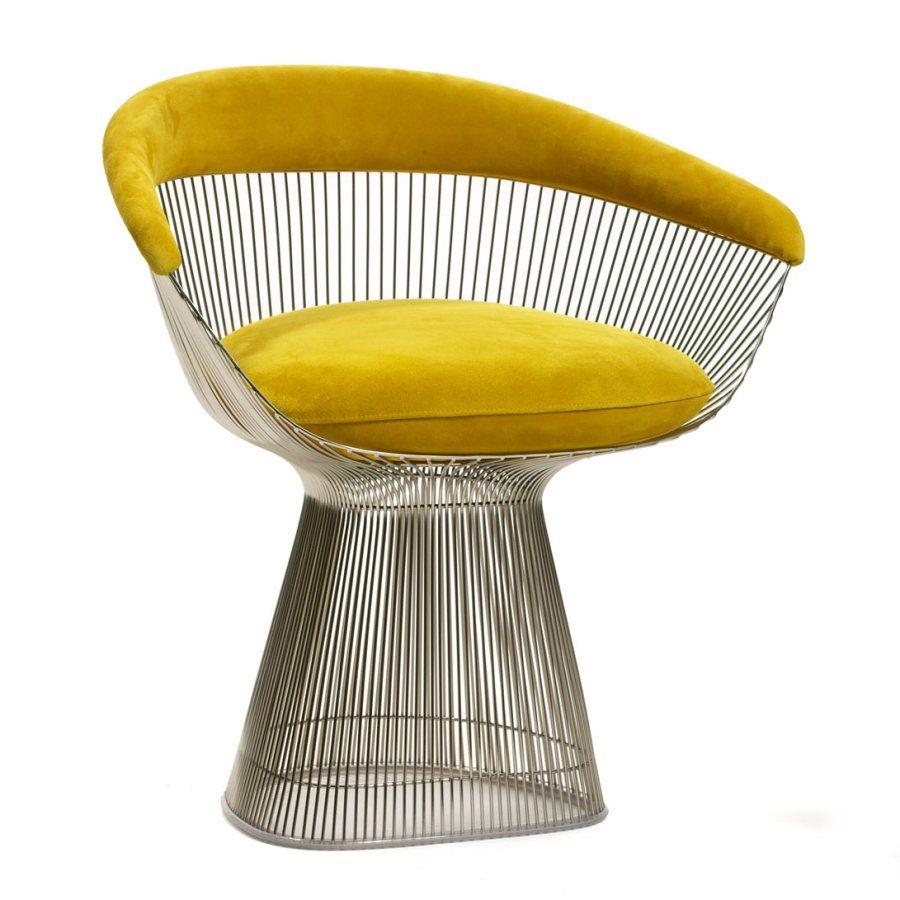 Knoll Felt Upholstery In Canary On Warren Platner Side Chair.  Want It? Buy
