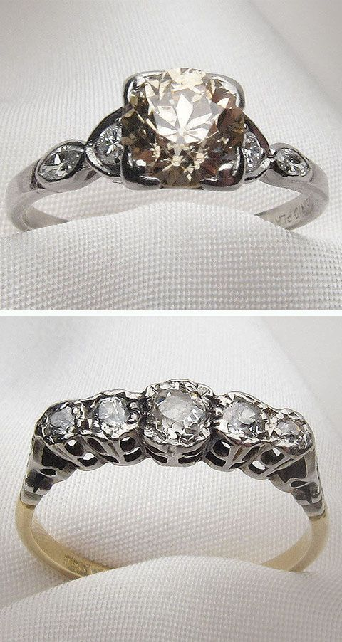 Authentic antique & vintage engagement rings & wedding bands only at  Seattle's premier antique jewelry store - Isadoras.com.