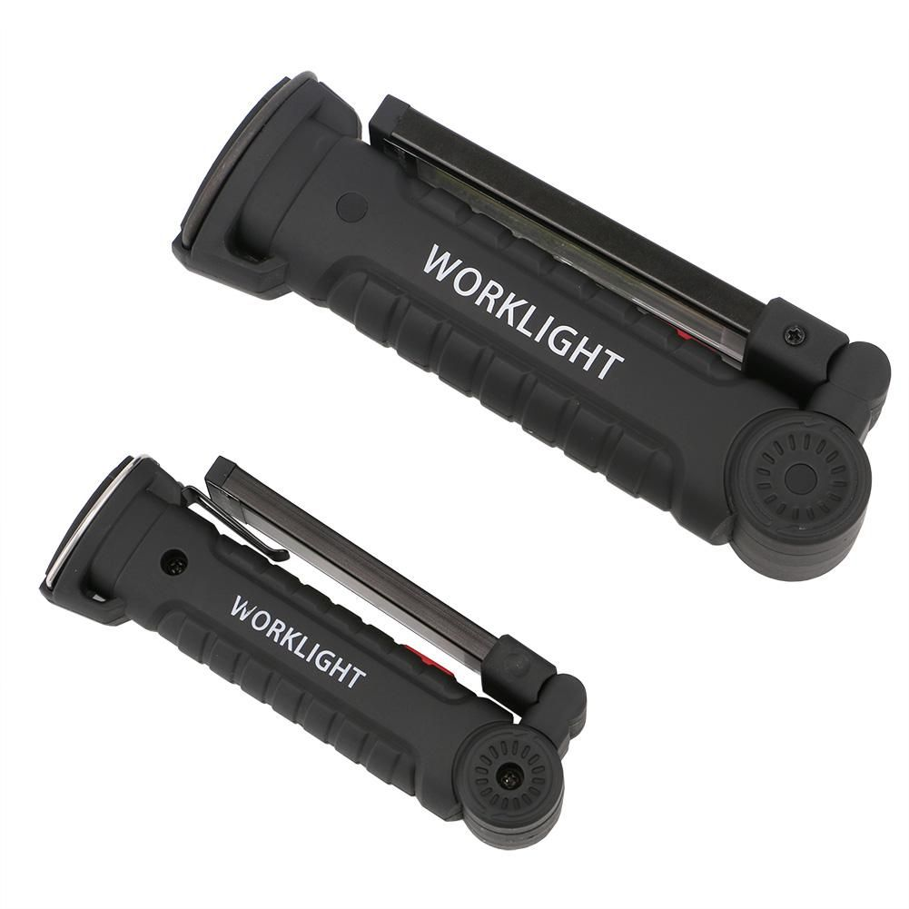 Rechargeable COB LED Work Light Fold Flashlight Magnetic USB Torch Portable Lamp