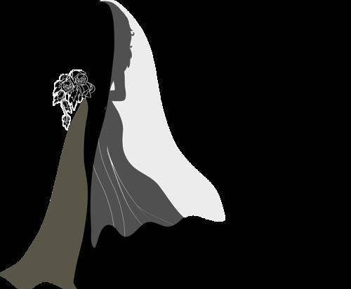 0 B070f 4b20530c L Png 500 412 Pixels Silhouette Clip Art Silhouette Art Wedding Dress Illustrations
