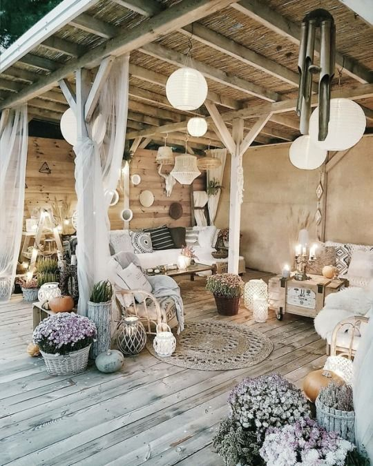 Amazing Patio  Bohemian neutral  Home inspiration and decoration   813673857661045945
