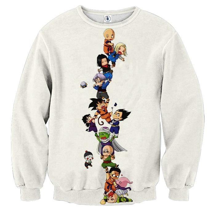 a5fa4832588 Dragon Ball Z Cute Adorable Chibi DBZ Characters Sweatshirt  sweaters   sweatshirts  dragonball