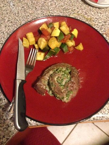 The Advocare Experience: Spinach steak pinwheels