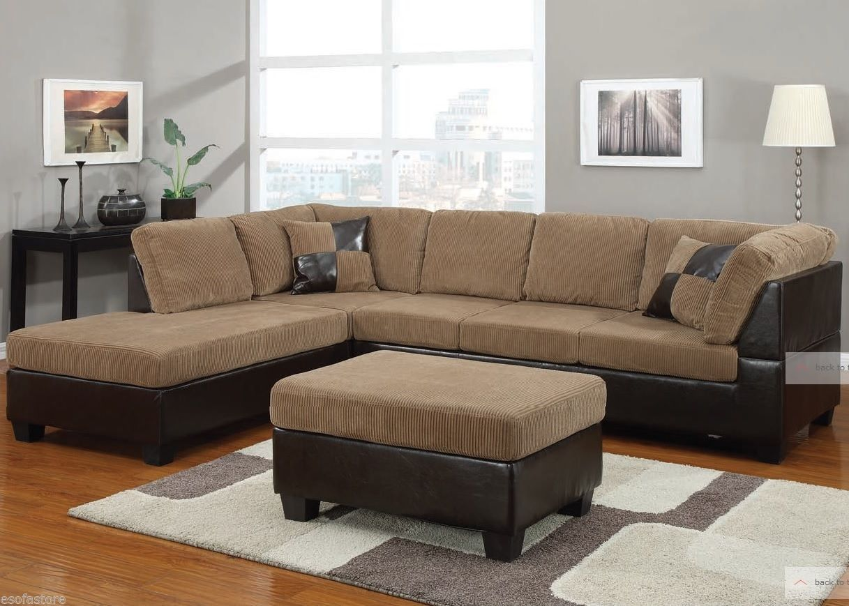 Connell Light Brown Corduroy Sectional Sofa Modern Living Room Couch 55945 Acme Ebay Modern Sofa Sectional Comfortable Sectional Sofa Sectional Sofa