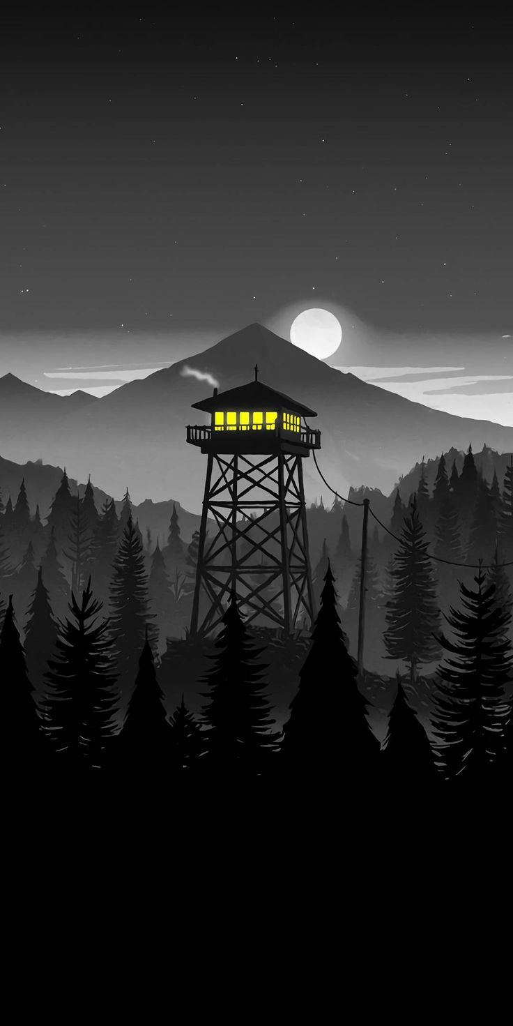 Firewatch Night iPhone Wallpaper in 2019 Minimalist