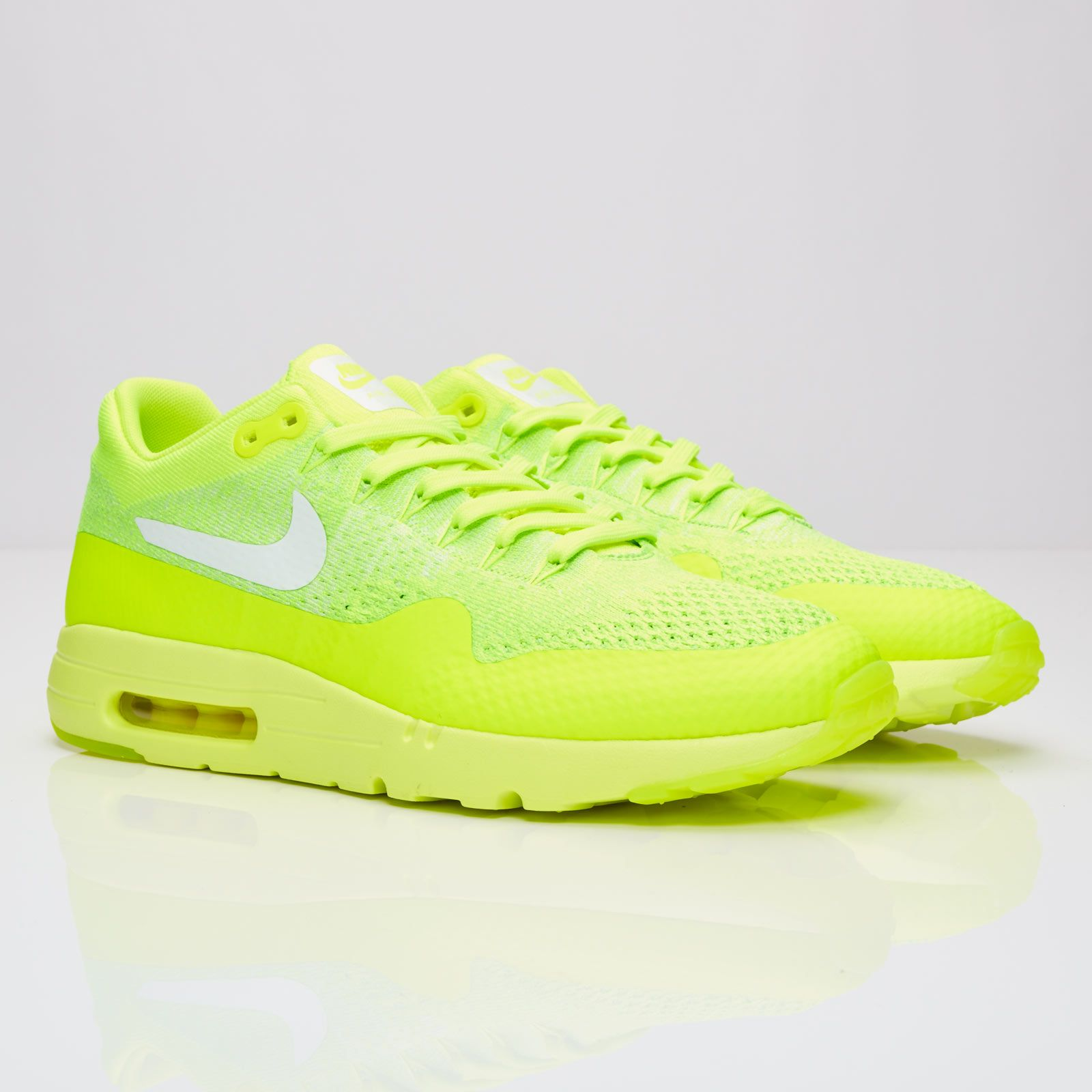 092ce478ad1 NIKE AIR MAX 1 ULTRA FLYKNIT VOLT WHITE ELECTRIC GREEN 843384 701 ...