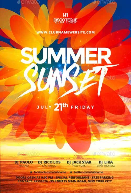 Summer And Spring Party Flyer Template  HttpFfflyerComSummer