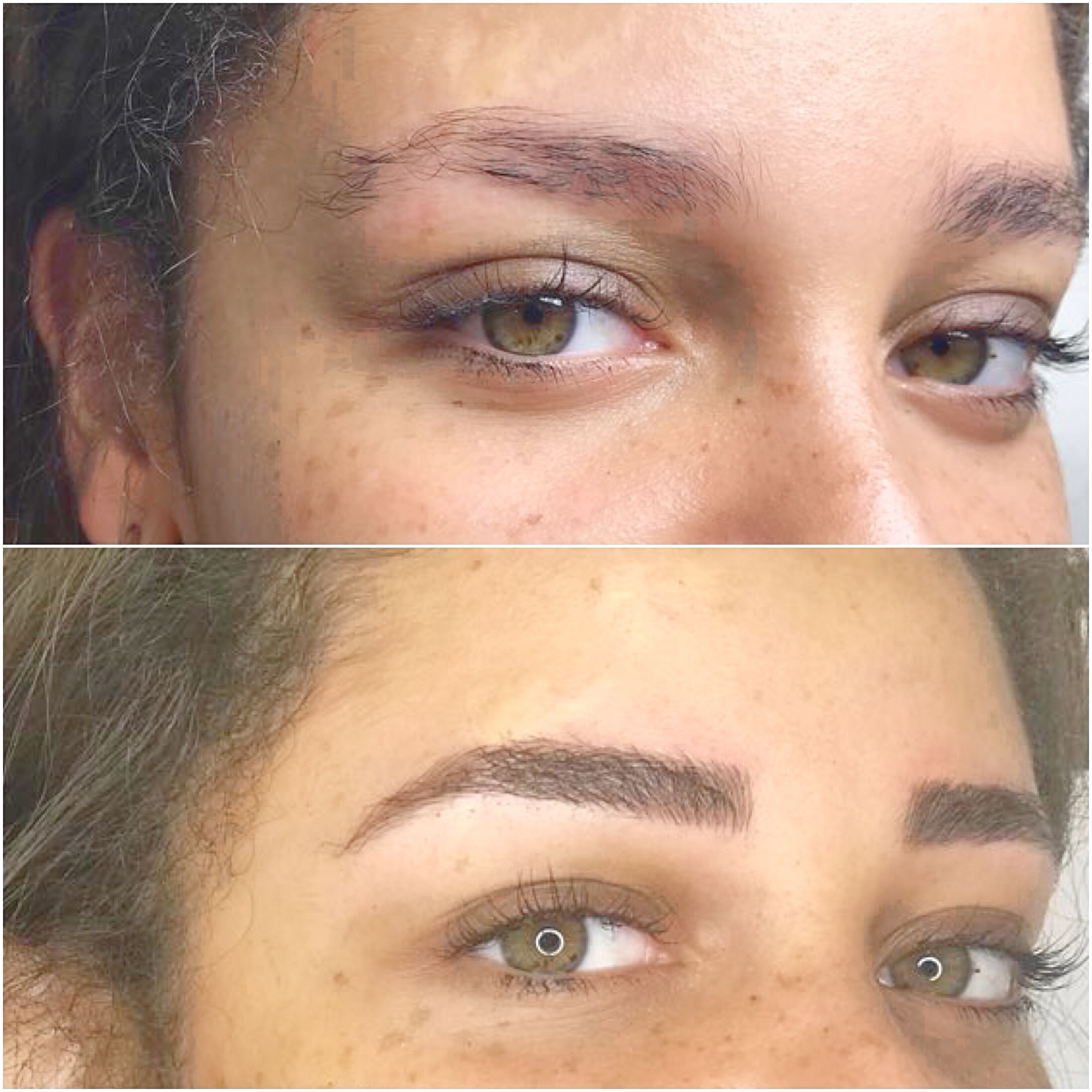 Microblading Faded Eyebrows EyebrowsNatural Faded