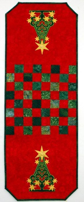 Christmas Tree Tablerunner Advanced Embroidery Designs