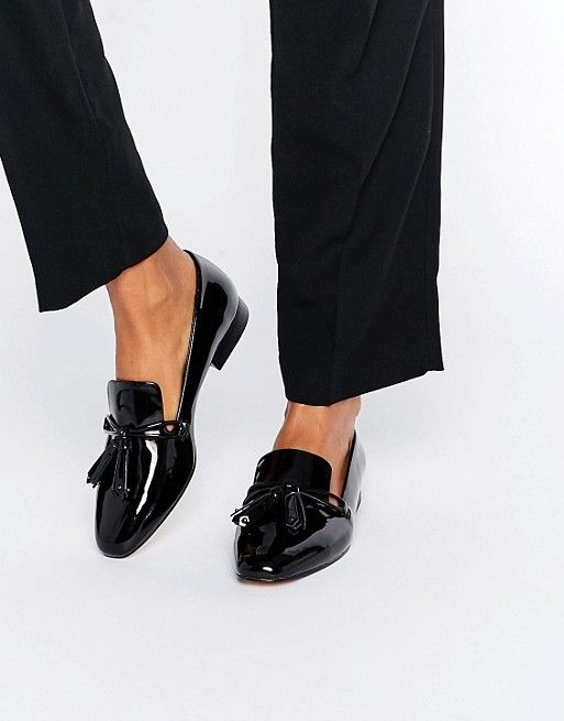 42e57f0d37f Mango Black Patent Loafer