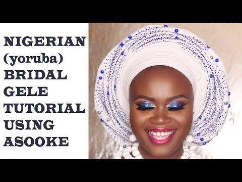 bridal gele tutorial using asooke beginner friendly
