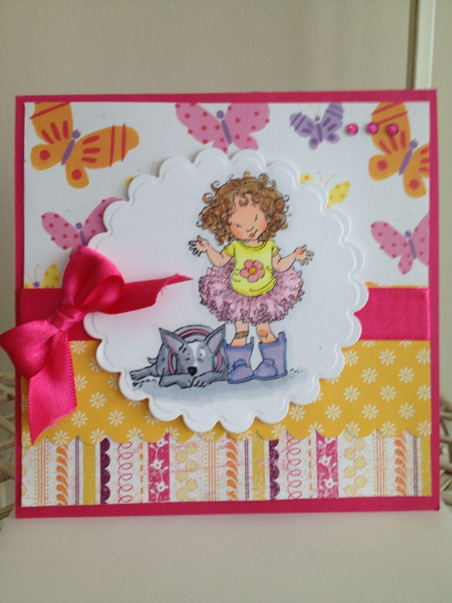 Belated birthday card using Maurice J Mannings digital stamp I