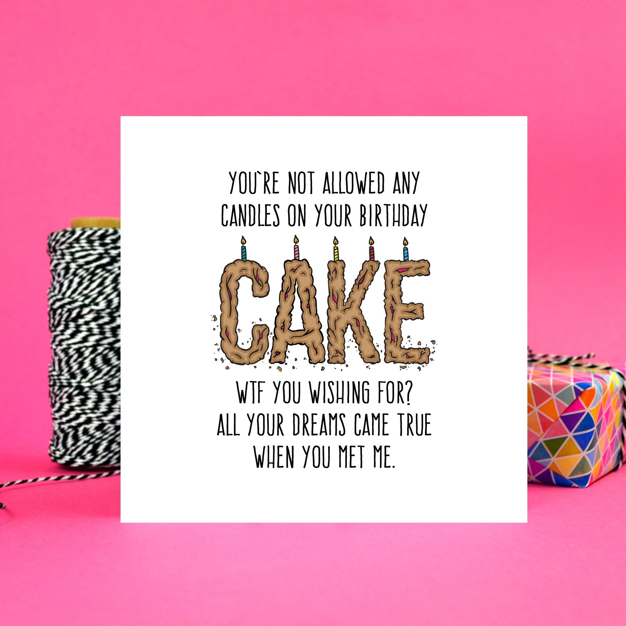 WTF Birthday Cake Card