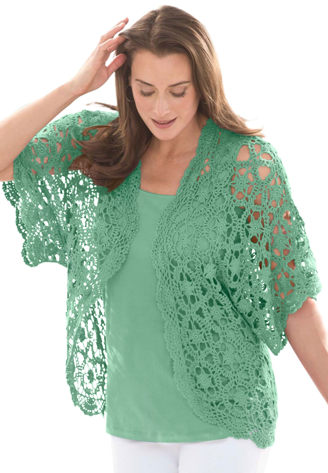 Shrug Cardigan In Crochet Plus Size Shrugs Jessica London