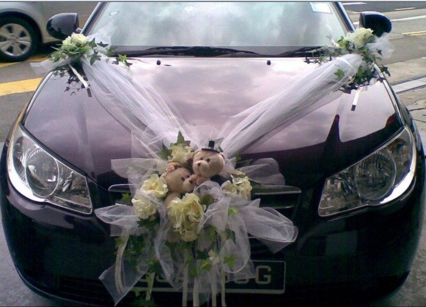 Related image of wedding car decorations just married for Just married dekoration