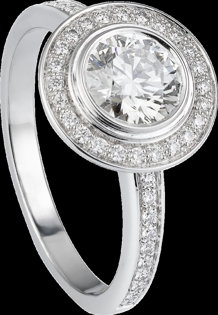 Cartier D Amour Solitaireplatinum Diamonds Rings Rings