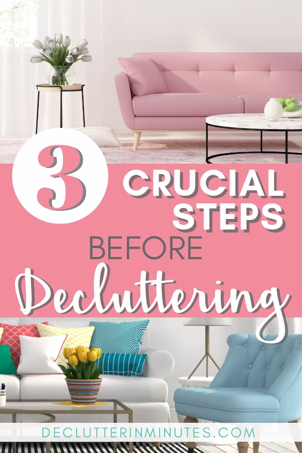 3 Crucial Steps to Take Before Decluttering #organizekitchen