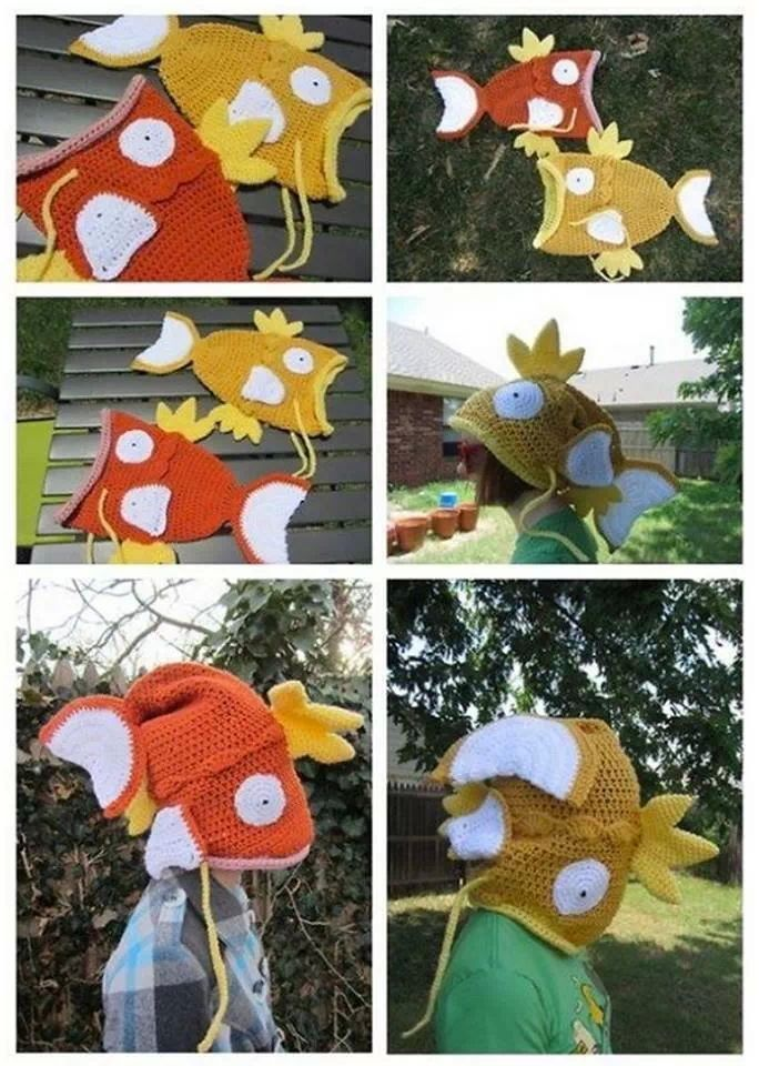 Magikarp-shaped hat | I Want It | Pinterest | Gorros, Gorro tejido y ...