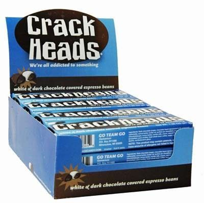 Crackheads Chocolate Covered Coffee Beans 1.4 Ounce Box - 12 / Box #chocolatecoveredcoffeebeans Crackheads Chocolate Coffee Beans taste as good as they look! #chocolatecoveredcoffeebeans Crackheads Chocolate Covered Coffee Beans 1.4 Ounce Box - 12 / Box #chocolatecoveredcoffeebeans Crackheads Chocolate Coffee Beans taste as good as they look! #chocolatecoveredcoffeebeans