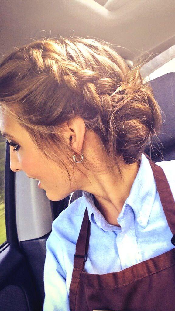 Www Gardennearthegreen Com A Fun Waitress Updo Braided Surf Bun Nurse Hairstyles Hair Styles Waitress Hairstyles