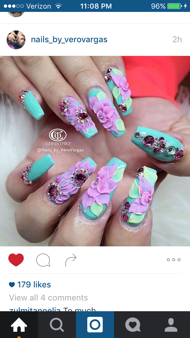 Pin de Arlette G Mar en Nails | Pinterest | Diseños de uñas, Arte de ...