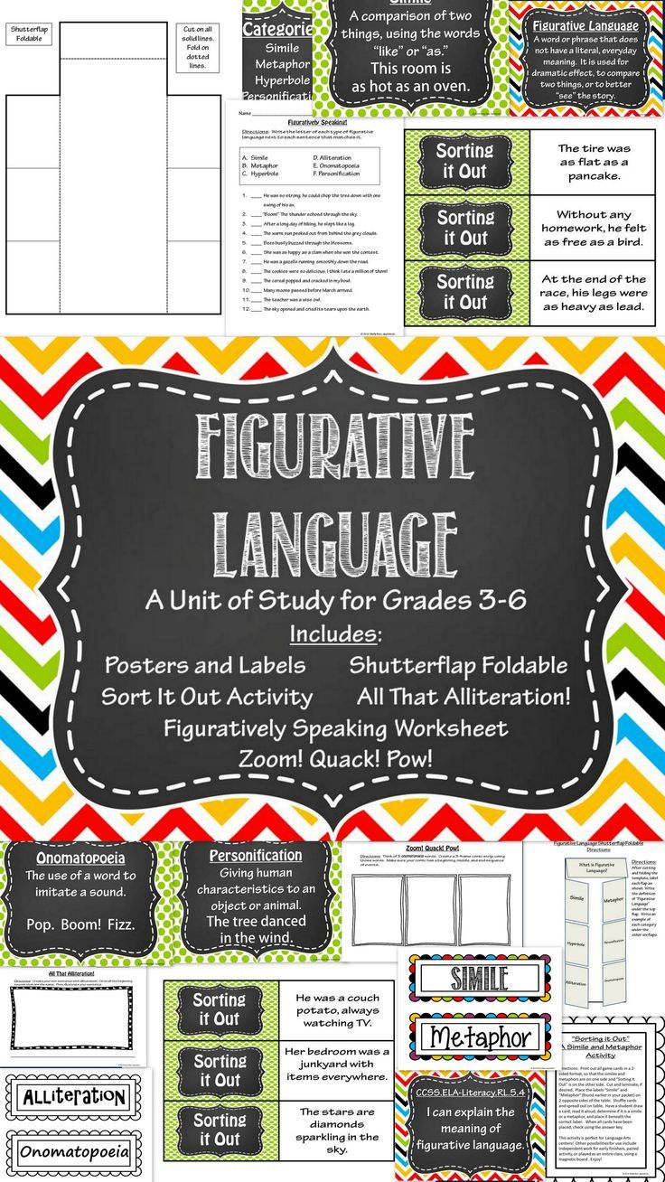 Figurative Language Activities (With images) Figurative
