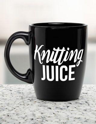 Knitting Juice coffee mug