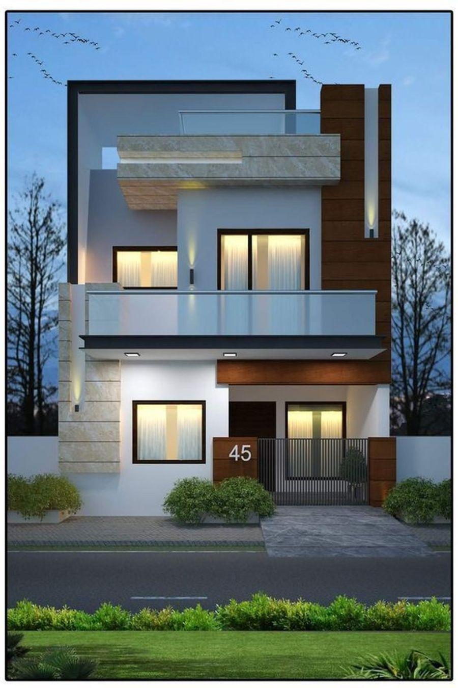 Stunning Modern House Design Ideas 26 Facade House Duplex House Design Small House Design Exterior
