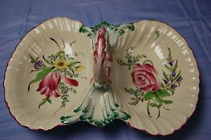 Keller & Guerin, Old Strasbourg, Double Bowled Serving Dish with Handle - S4058