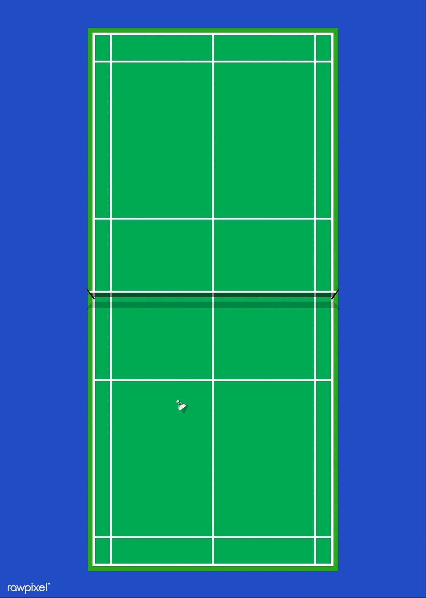 Aerial View Of A Badminton Court Free Image By Rawpixel Com Aew In 2020 Badminton Court Badminton Badminton Logo