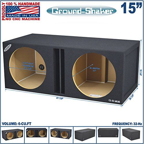 15 Dual Vented Slot Ported Sub Box Tuned32hz 6cuft Subwoofer Enclosure Click Image To Review More Details Subwoofer Box Subwoofer Enclosure Sub Box