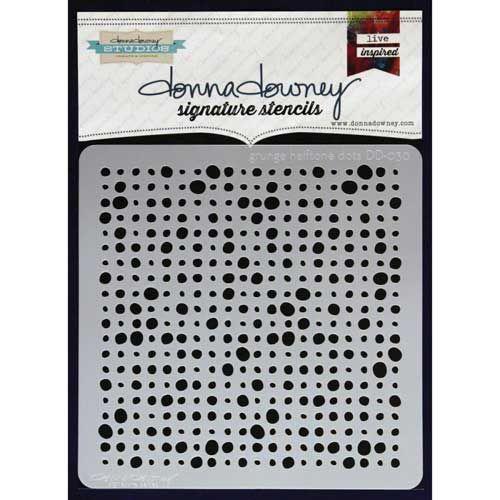 Donna Downey Signature Stencils - Grunge Halftone Dots [DD-030]
