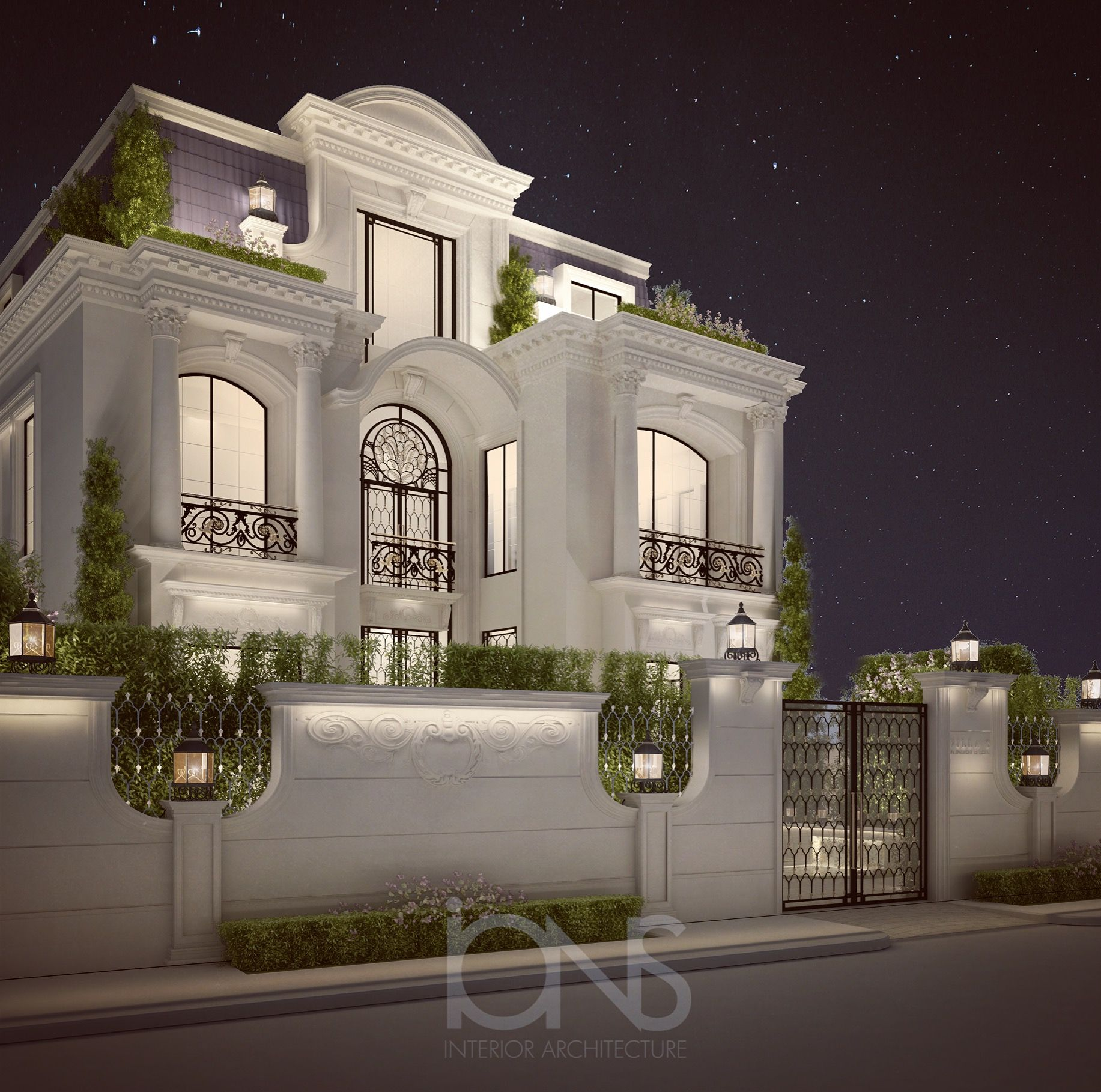 Private residence design doha qatar by ions design for Classic villa interior design
