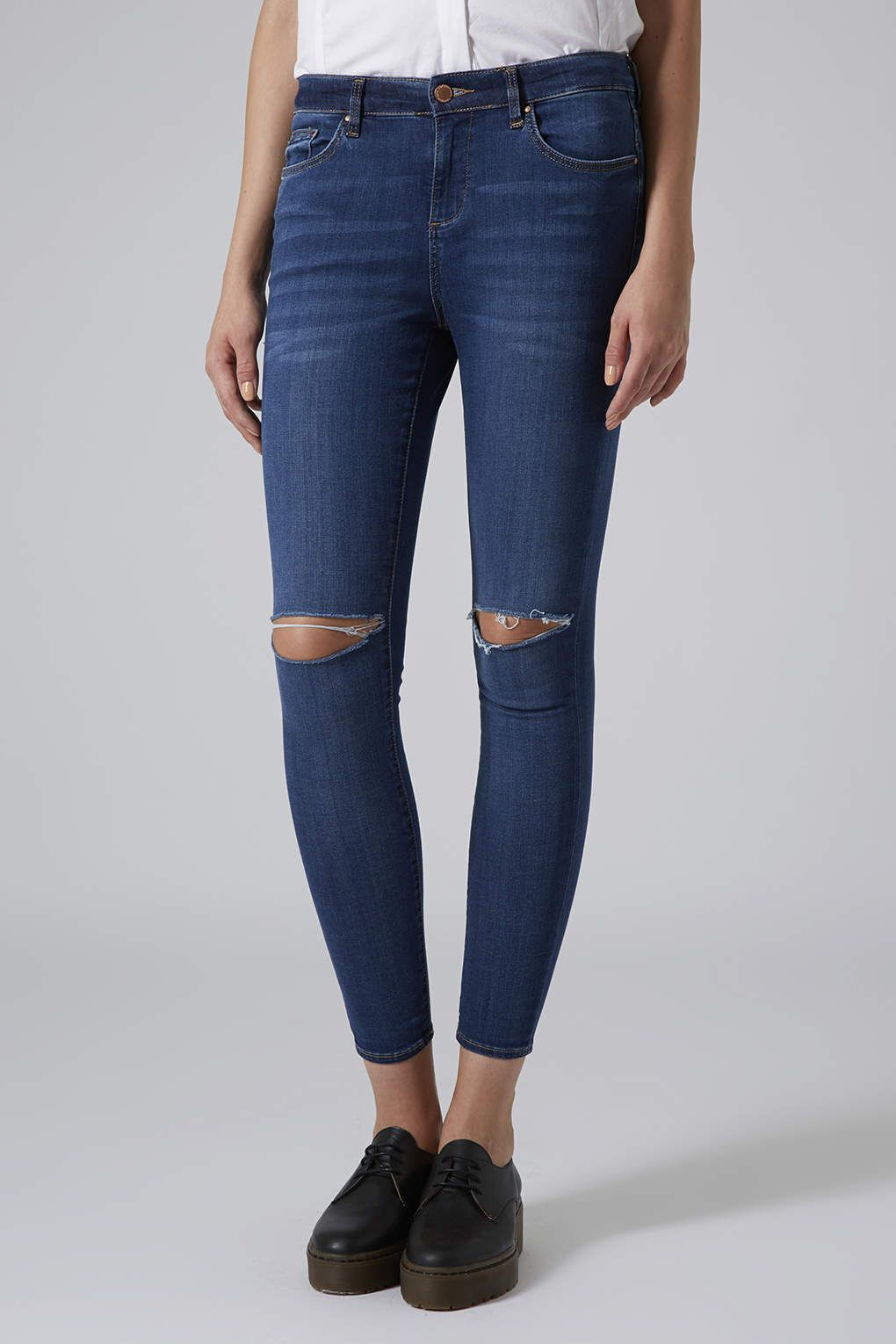 dfb1d24001c MOTO Vintage Wash Ripped Leigh Jeans - Leigh Jeans - Jeans ...