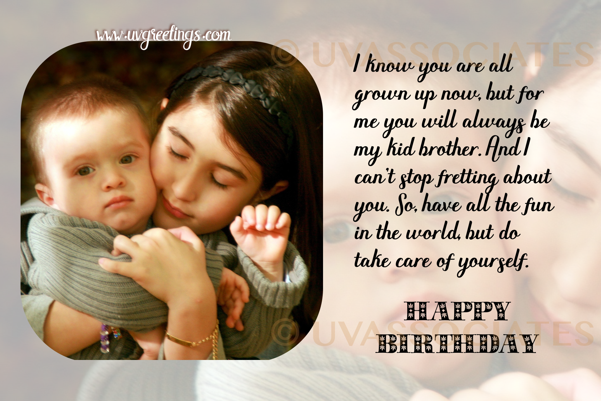 Happy Birthday Brother Sincere eCard to Express