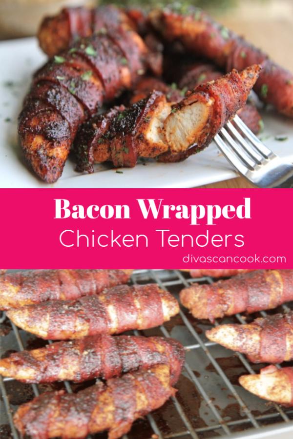 Bacon Wrapped Chicken Tenders Recipe Recipe Bacon Wrapped Chicken Chicken Bacon Recipes Bacon Wrapped Chicken Tenders