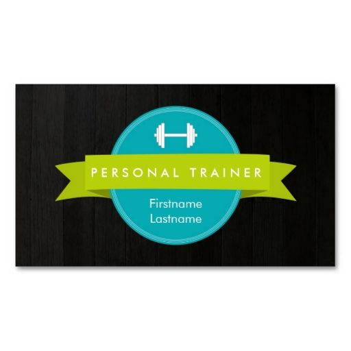 Trendy personal trainer fitness business cards reheart