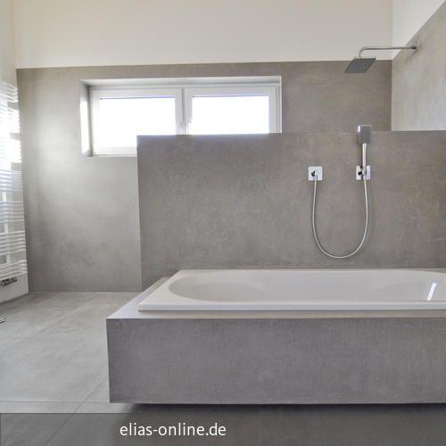 Hier Erstellten Wir Ein Modernes Badezimmer Im Puristischen Beton