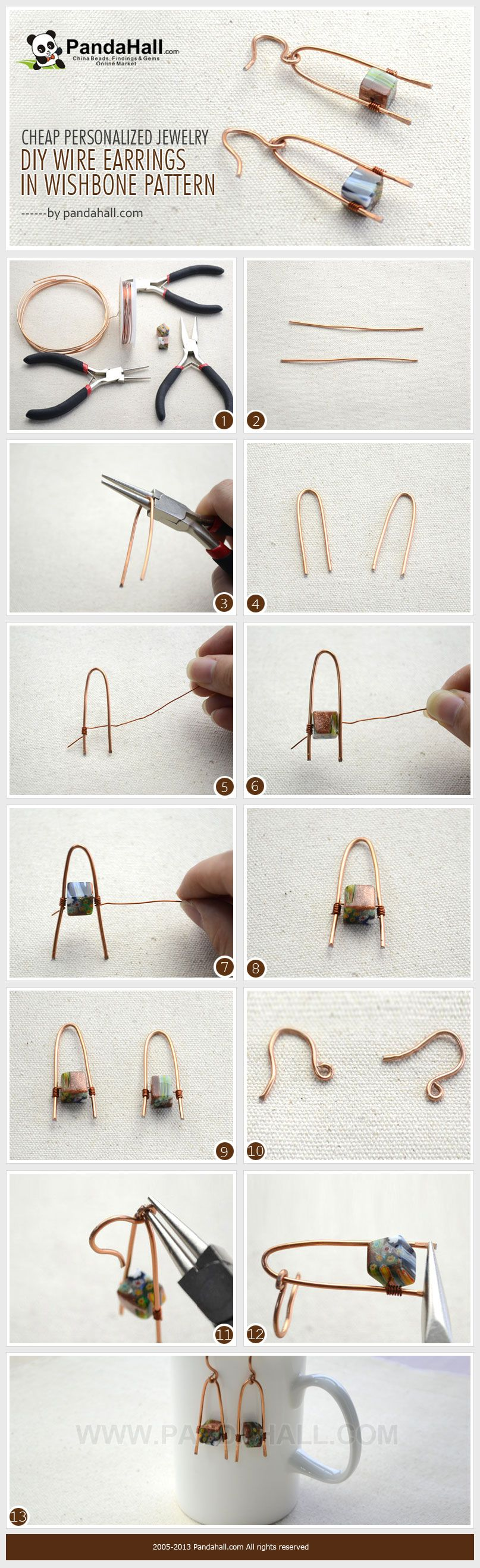 Cheap Personalized Jewelry- DIY Wire Wishbone Pattern Earrings from ...