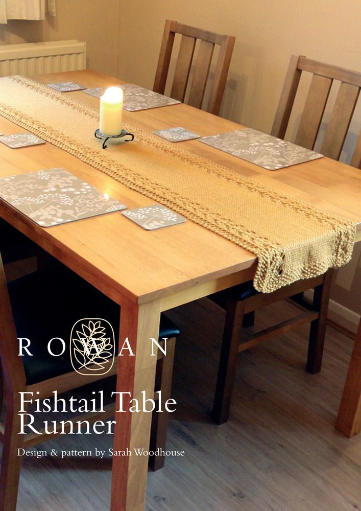 Fishtail Table Runner in Rowan Pure Wool Worsted | KNITTING...THIS ...