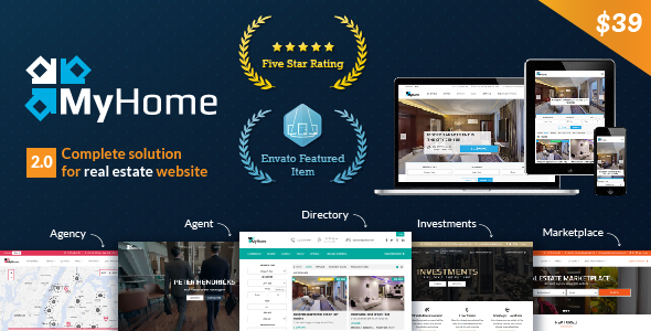 Download ThemeForest MyHome V Real Estate WordPress Theme Free - Real estate investor website templates