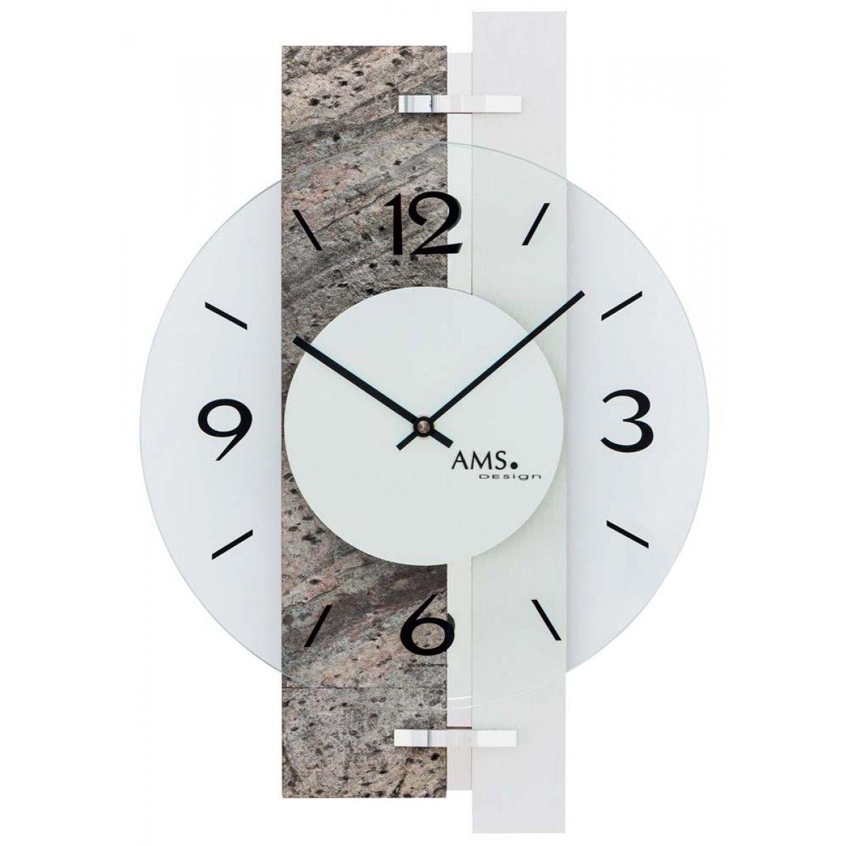 AMS wandklok 9558 Moderne klokken Clock, Wall clock, Desio