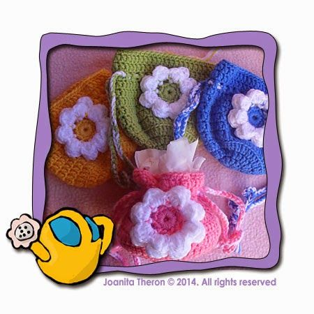 Crochet Patterns Galore - Small Flower Gift Bag | Gift Bags | Pinterest
