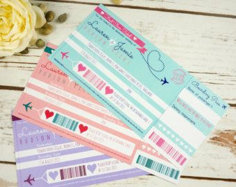 Items Similar To Boarding Pass Wedding Invitation Package With