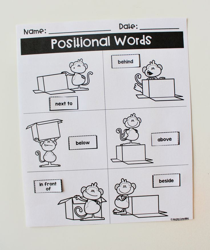 Positional Words Posters And Books Word Poster Positional Words